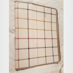 COACH off white logo leather tablet case